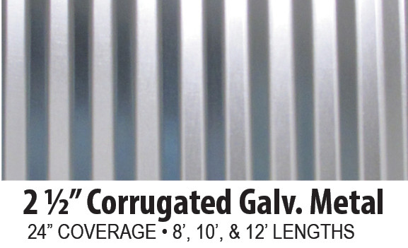 Corrugated Galvanized Steel Panels  AB Martin Roofing
