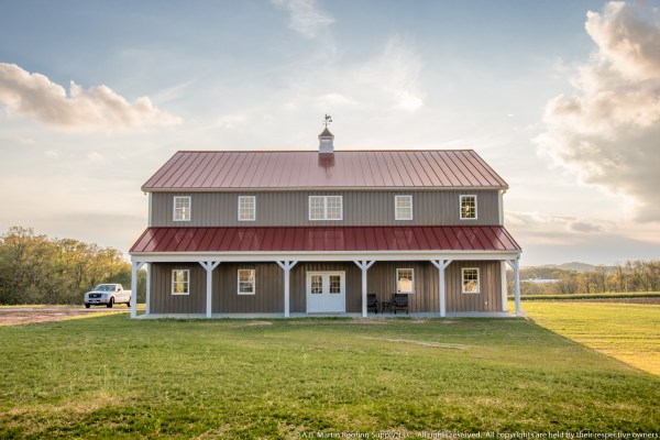 Building Showcase: 2-story Pole Barn with Metal Roof - A ...