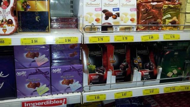 Zentis- und Milka-Produkte im uruguayischen Supermarkt