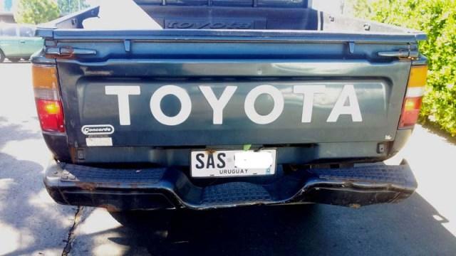 Der Toyota fuhr auf uns auf