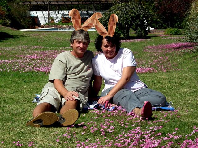 Die Ohren waren eine Leihgabe des Osterhasen, er hat sie bereits zurück :-)