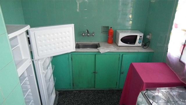 Küche rustikal grün