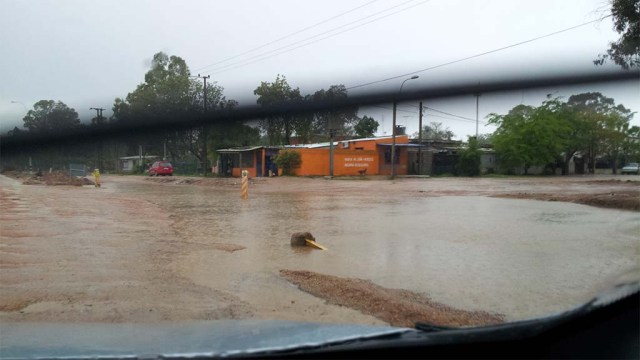 Überschwemmte Straße, Nähe Montevideo