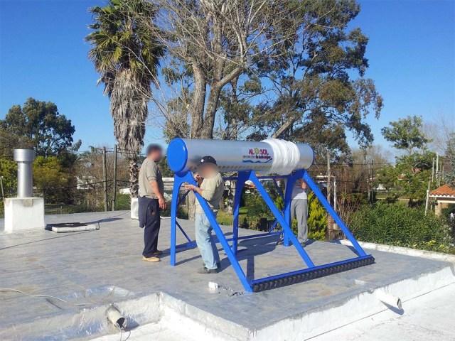 Aufbau der Solaranlage