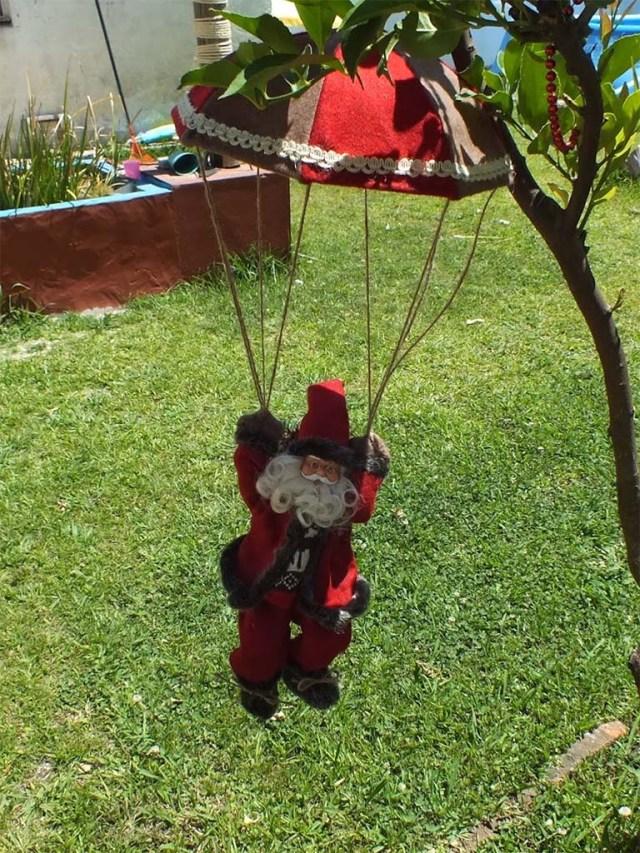Papa Noel im Landeanflug :-)