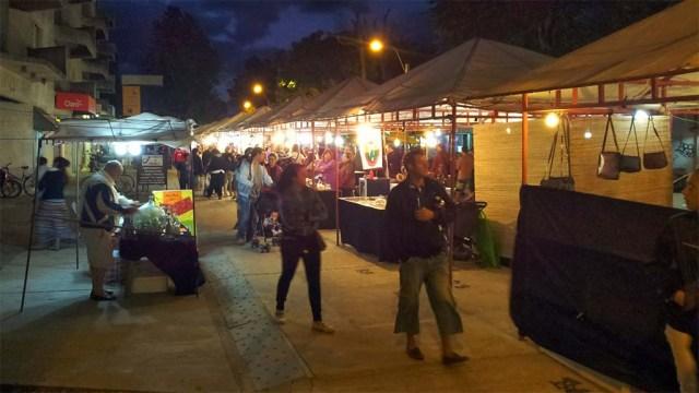 Marktstände in Atlántida, Stadtmitte