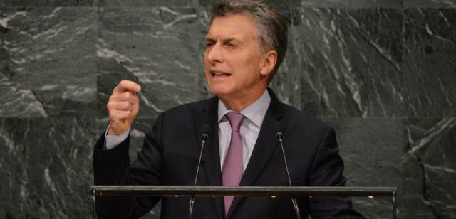 Präsident Macri.