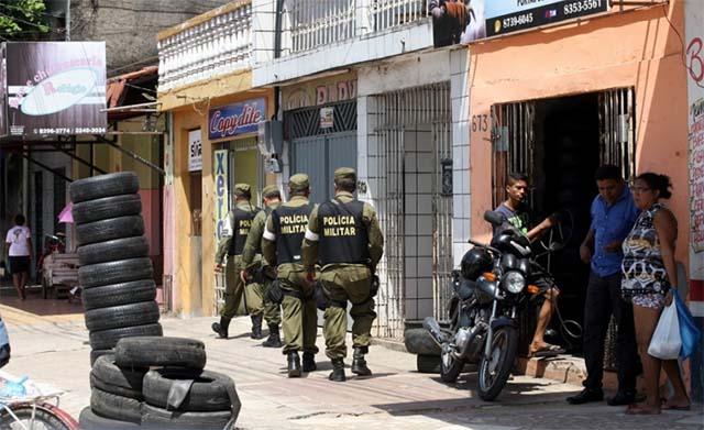 Militärpolizisten patrouillieren in Belém, der Hauptstadt des brasilianischen Bundestaates Pará