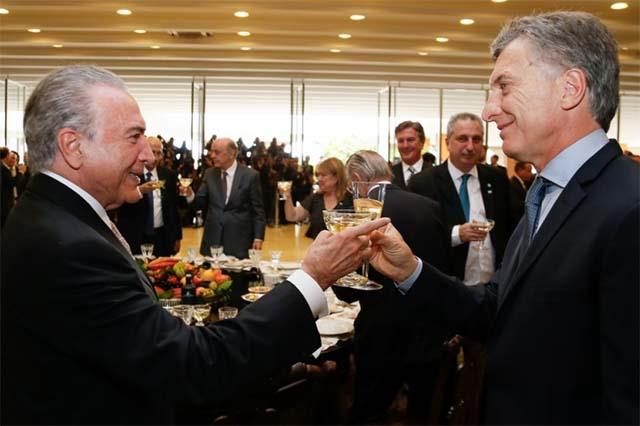 Temer und Macri bei ihrem Treffen wollen Annnäherung an die neoliberale Pazifik-Allianz und die Europäischer Union