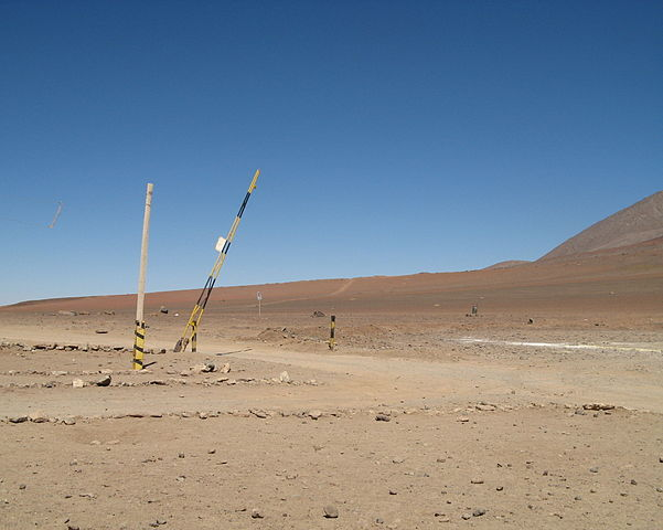 """Grenzübergang """"Hito Cajón"""" ( Portezuelo del Cajón) von Bolivien nach Chile"""