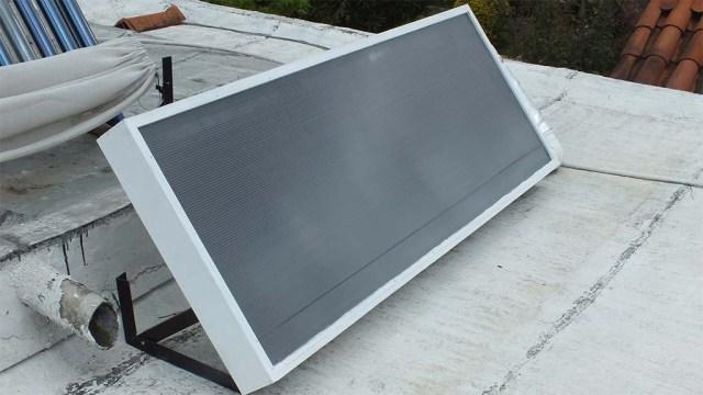 Der erste Kollektor für Solar-Warmluft