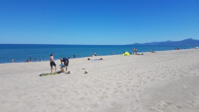 Strand bei Perpignan/Südfrankreich