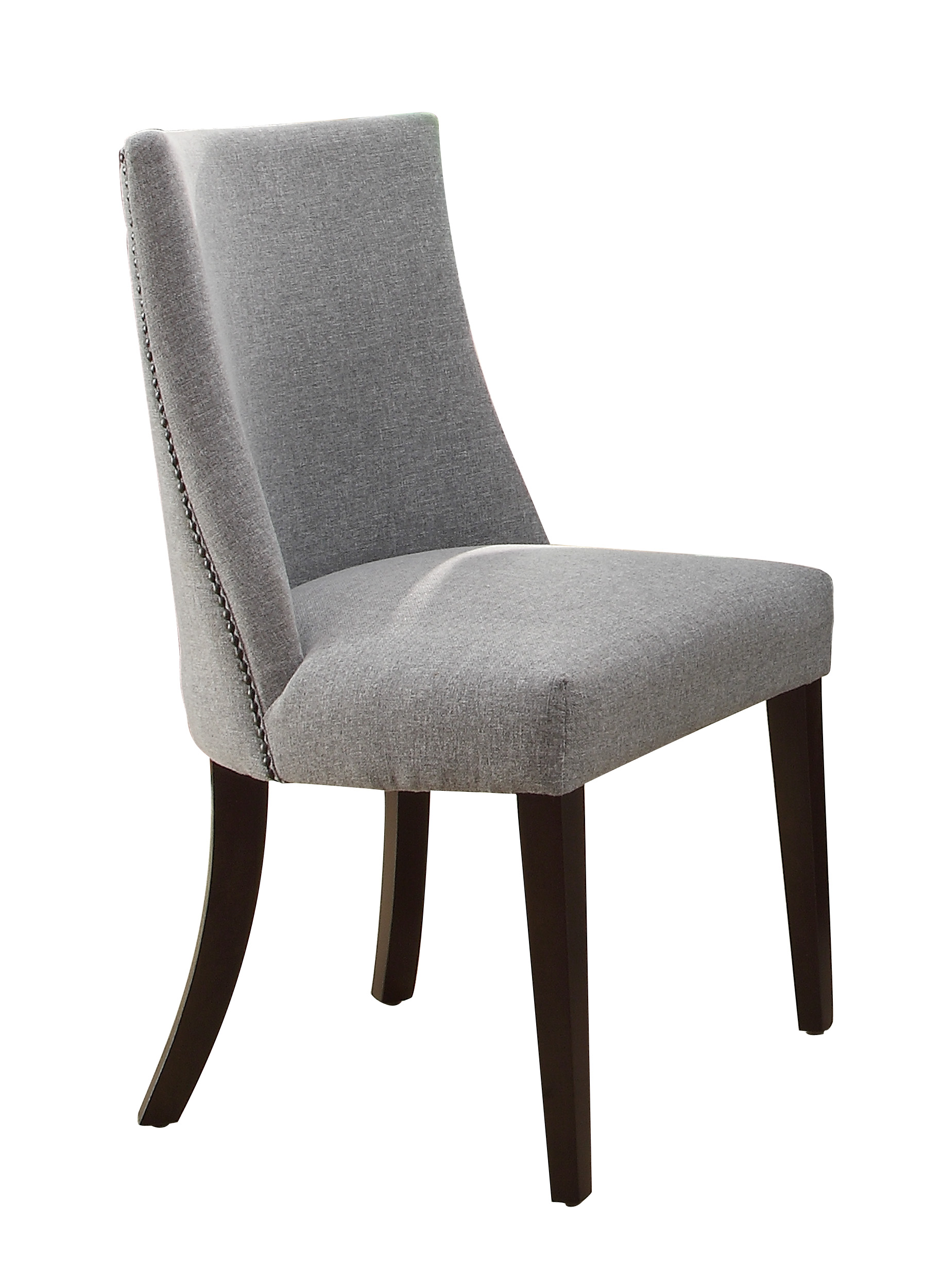 grey dining chairs nichols and stone chair value chicago upholstered side set of 2
