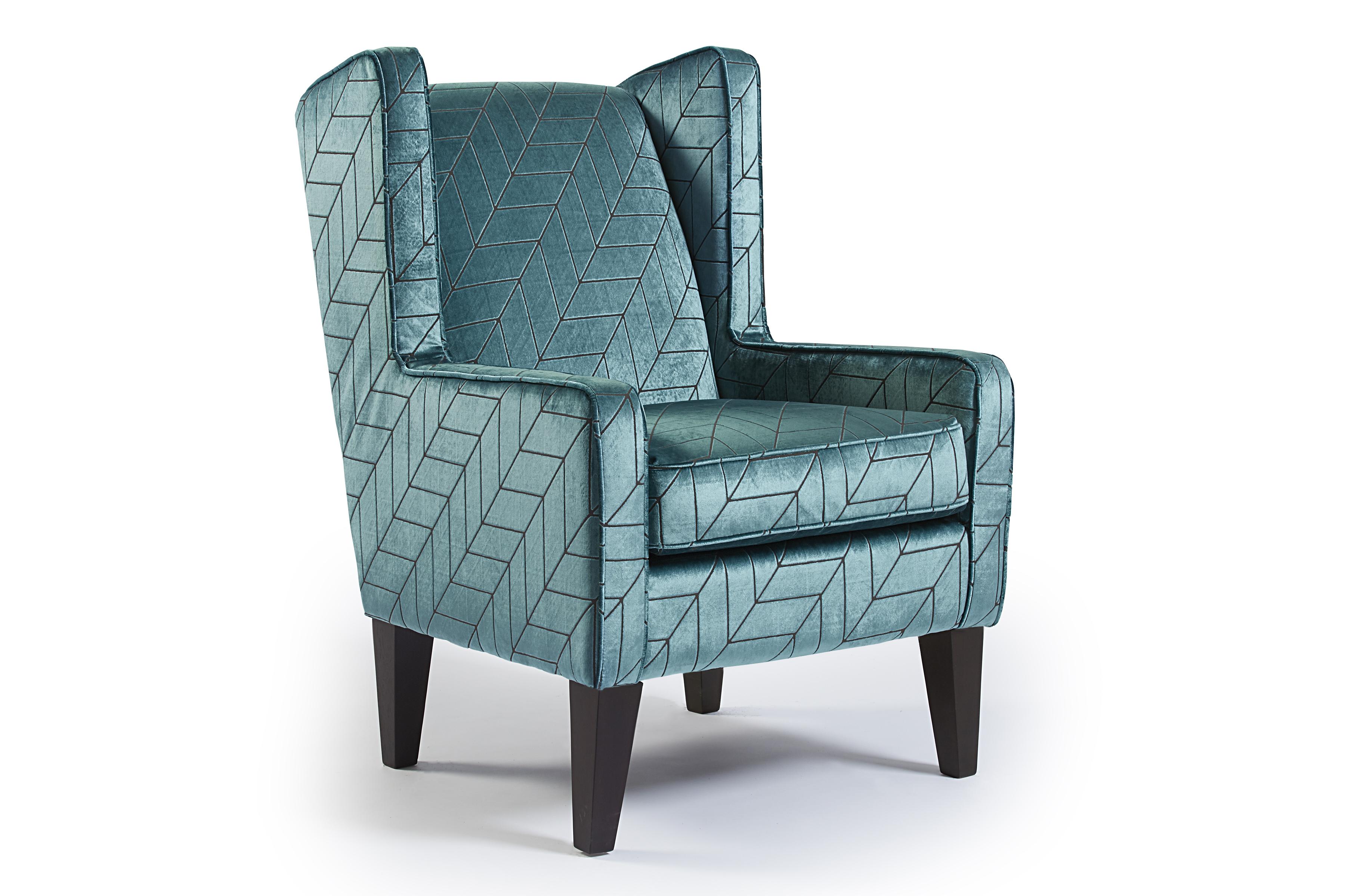 Teal Velvet Accent Chair