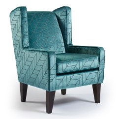 Teal Accent Chair Sex On Carmen Modern Wing