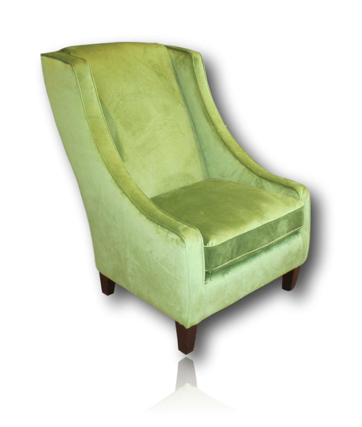 Jade Wing Back Accent Club Chair  Green Accent Chairs