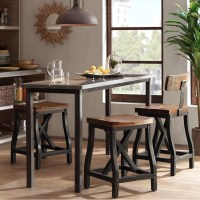 Cheyenne Counter Height Bar Stool w/Back   Rustic Counter ...