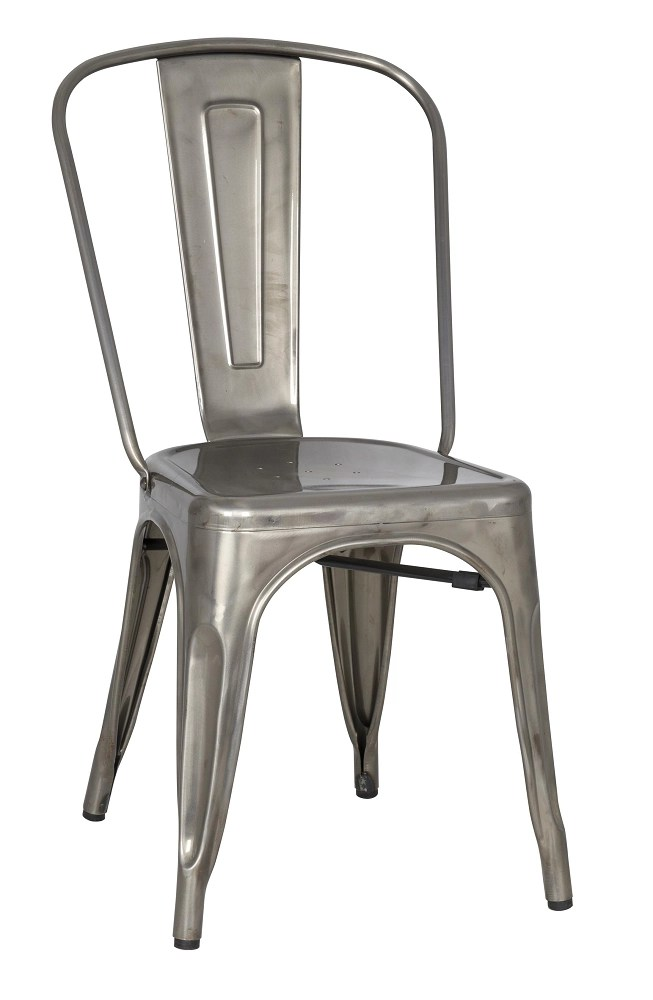 Stovall Industrial Gun Metal Dining Chair Set of 4