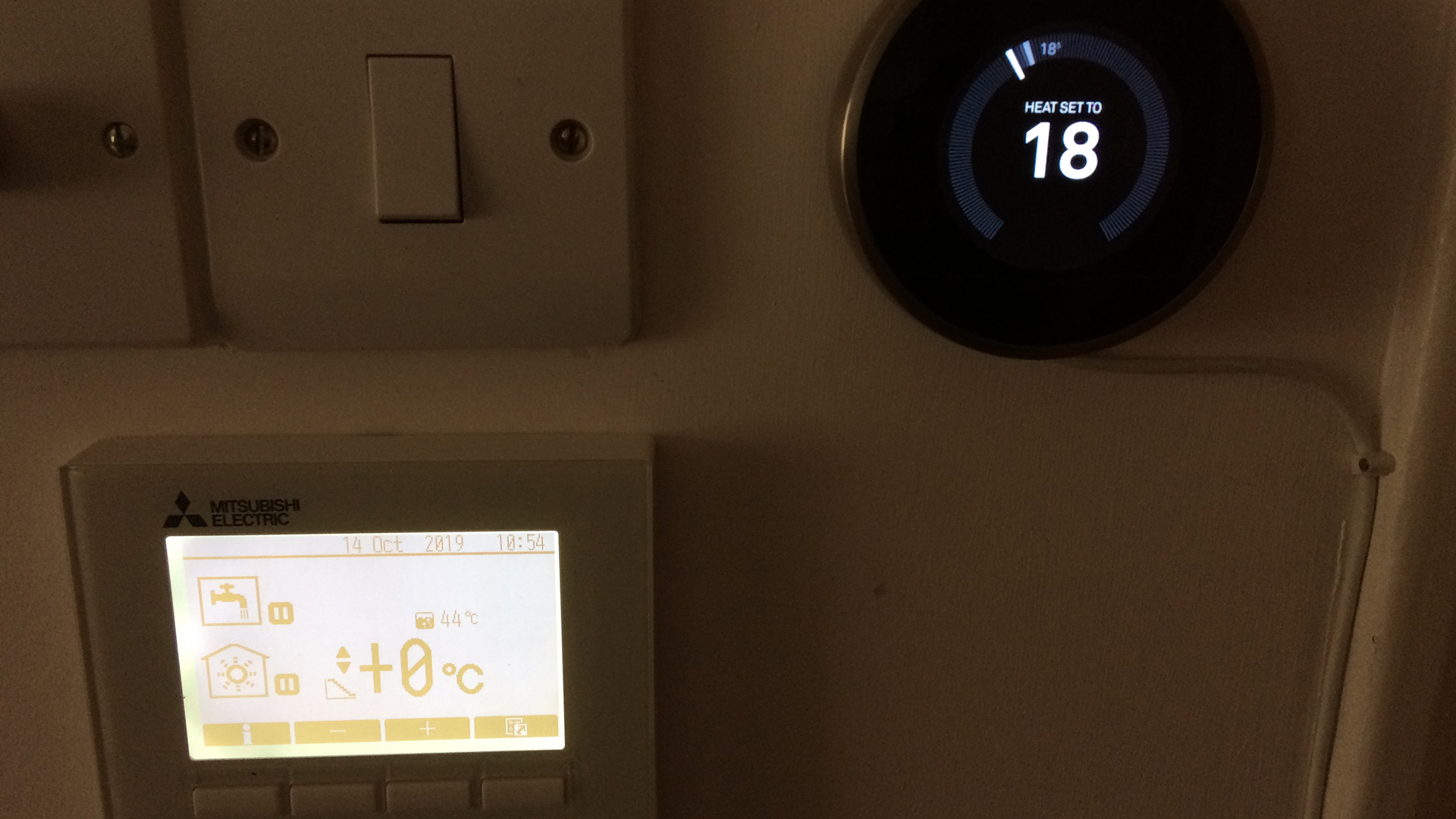 Mitsubishi Ecodan and Google Nest Thermostat installed by Abode