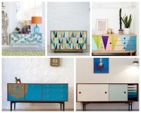 A Bolt of Blue | Cool idea  Painted furniture