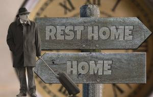 sign with rest home point in directions for parental care