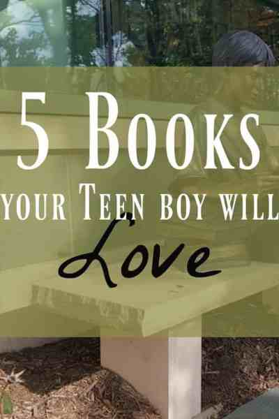 teen boy reading books