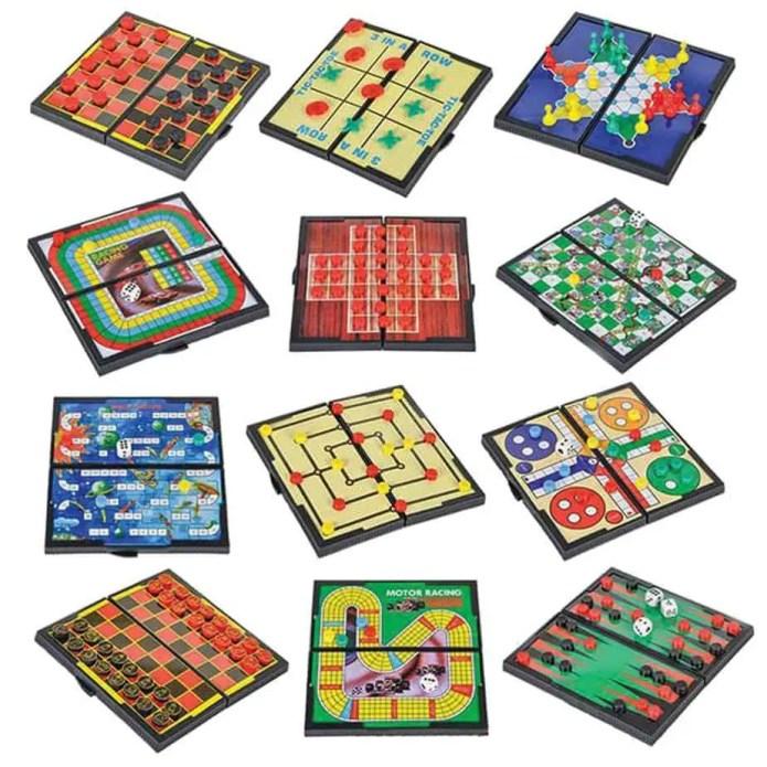 Road trip magnetic games