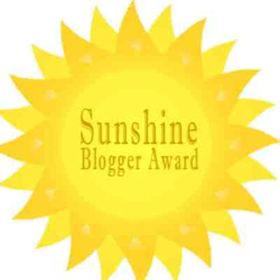 Guess Who Won a Sunshine Blogger Award!