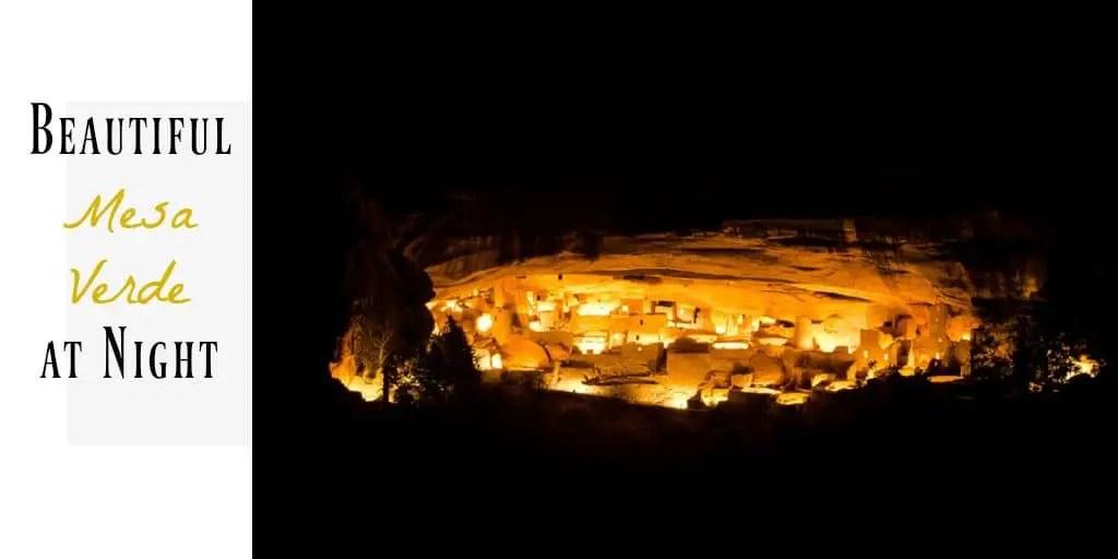 Mesa Verde at night image
