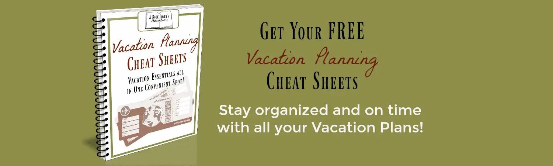 vacation planning sheets