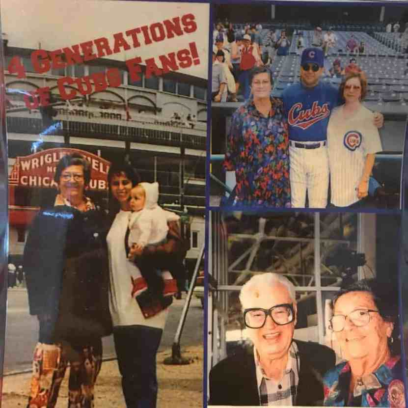 Pris Oliveras writer of Contemporary Romance books at Wrigley field with her family