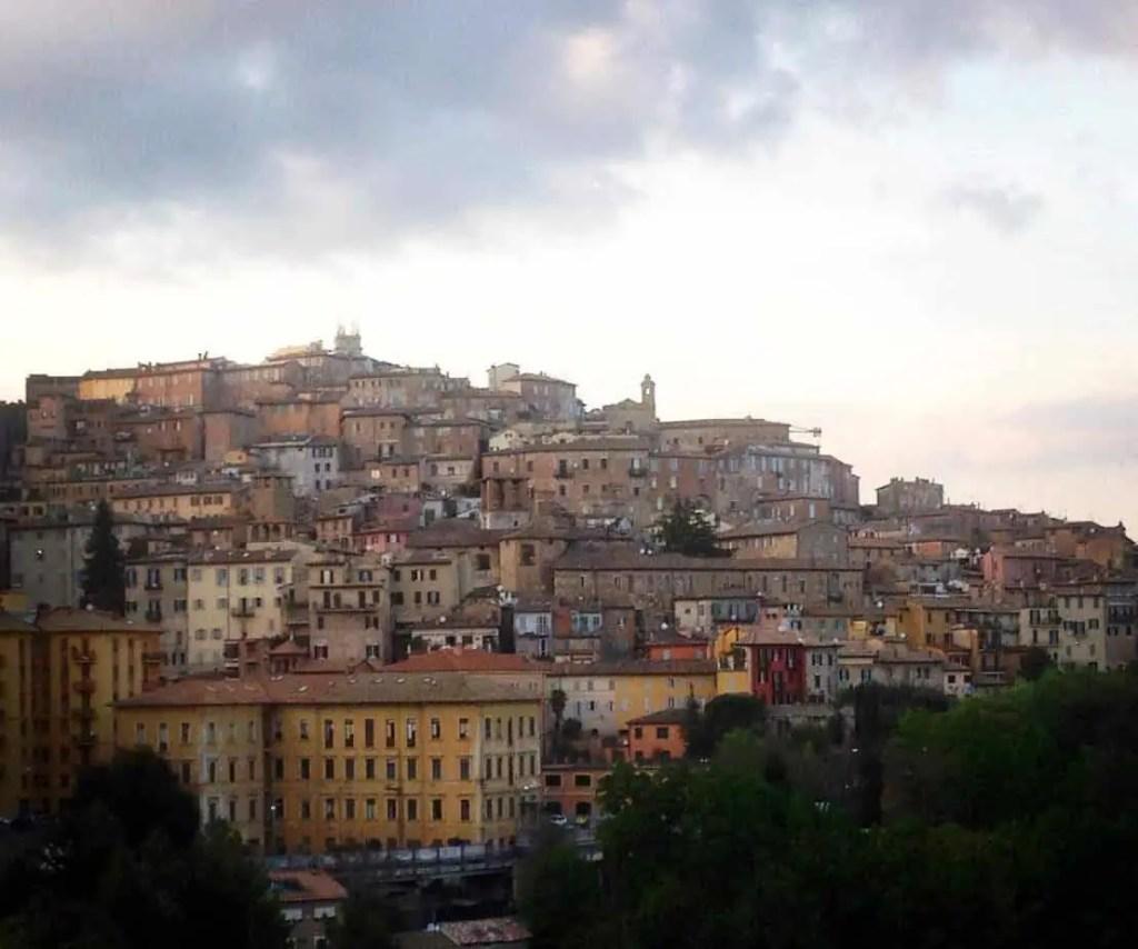 view of Perugia, captial of Umbria Italy