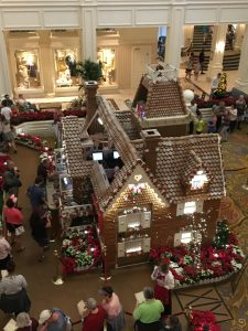 view from above of the gingerbread house at the Grand Floridian
