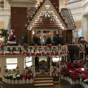 side of the gingerbread house