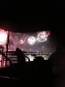 Firework display at Disney World