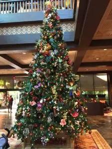 Christmas tree at the Polynesian