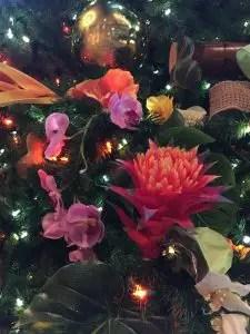 Christmas decorations at the Polynesian