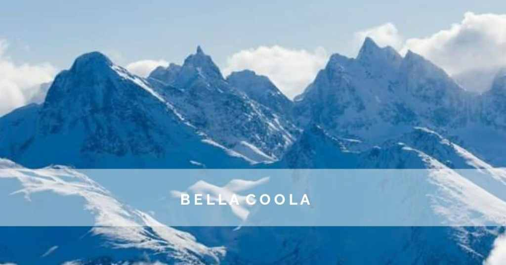 the snowy mountains of Bella Coola BC