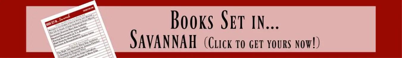 books set in Savannah banner