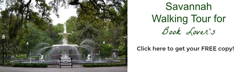 Savannah walking tour banner
