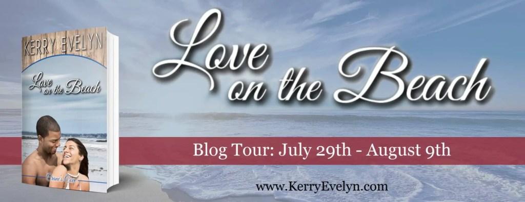 Love on the Beach blog tour banner