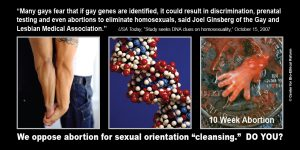 """GAP Sign - """"Sexual Orientation 'Cleansing'"""""""