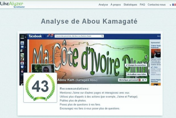 Exemple d'analyse avec ma page facebook