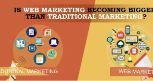 Is web marketing becoming bigger than traditional marketing