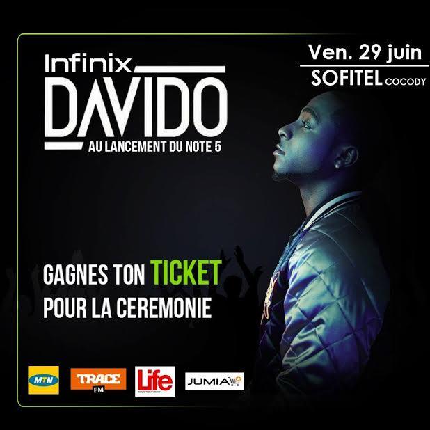 Davido ambassadeur de la marque Infinix