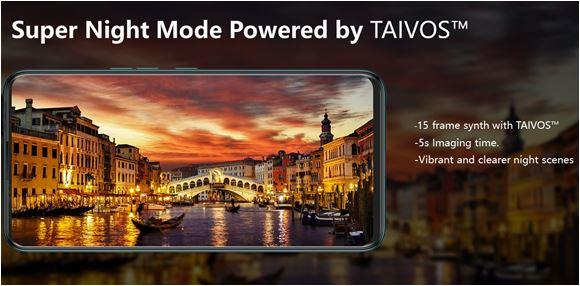 TAIVOS ™ est une nouvelle technologie créer par Tecno pour des photos nocturnes ultra-claires