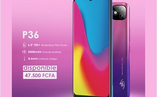 Le P36 d'Itel Mobile est disponible avec une grosse batterie de 5000 mAh