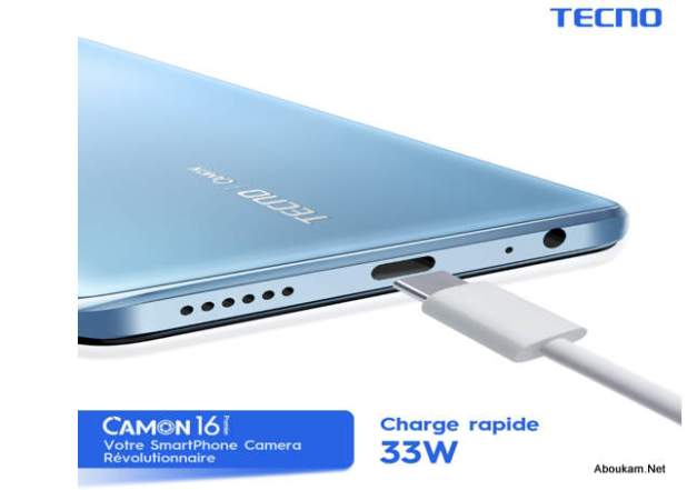 Camon 16 Premier Super video mode 4K et flash charge 33W, plus d'un jour d'autonomie avec une seule charge