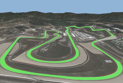 The 15 turns of the Circuit of Mugello Scarperia