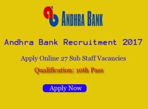 andhra bank notification 2017